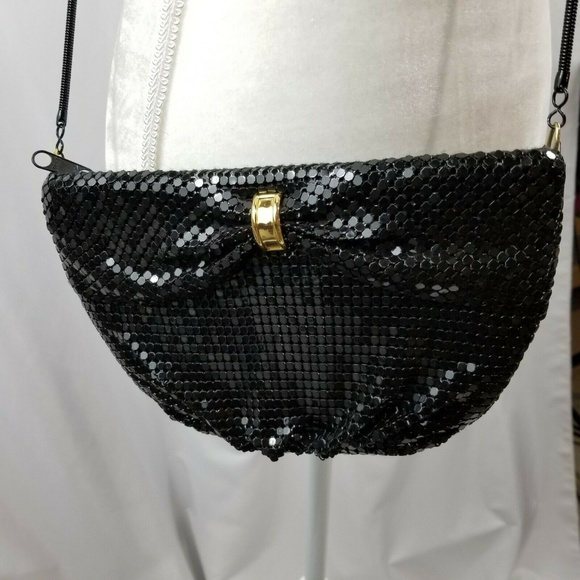 Handbags - Elegant Small After Five Women's Black Shiny Purse